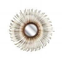 "15"" Round NK Gold Rays Mirror"