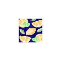 40 Count Lemons On Blue Beverage Napkin