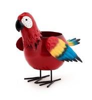 """14"""" Red Metal Parrot Pot"""