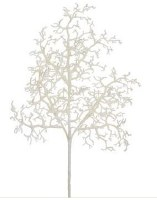 "16"" Faux White Glitter Twig Branch"