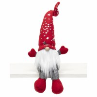 "17"" Gnome With Red Shiny Stars Hat"