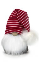 "15"" Gnome With Floppy Striped Pom Pom Hat"