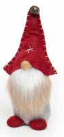 "11"" Standing Gnome With Red Bell Hat and Two Tone Beard"