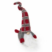 "18"" Belly Buster Gnome With Red Plaid Hat"