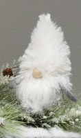 "6"" Gnome With White Beard and White Furry Hat"