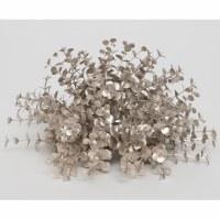"5"" Faux Platinum Metallic Eucalyptus Dome With Glitter"