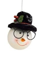 "6"" Snowman Head Ornament"