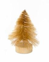"""6.5"""" Gold Brush Tree"""