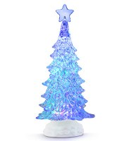 """11.5"""" Clear Multicolor LED Tree"""