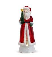 "11.5"" LED Red Santa Glitter Swirl"