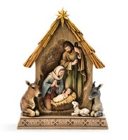 "13"" Holy Family In The Stable"