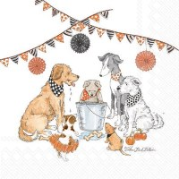 Halloween Party Dogs Beverage Napkins