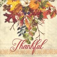 Fall Thankful Gathering Beverage Napkin