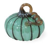 """5"""" Blue Glass Pumpkin"""