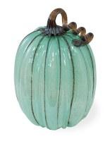 """11"""" Blue Glass Pumpkin"""