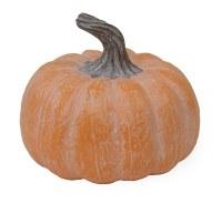 """5"""" White Washed Orange Pumpkin Resin"""