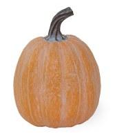 """6"""" White Washed Orange Pumpkin Resin"""