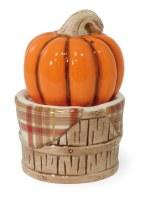 """4"""" Pumpkin Basket Salt & Pepper Shaker"""