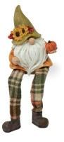 "8"" Fall Green Hat Gnome Shelf Sitter"