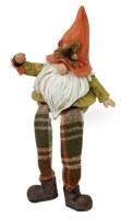 "8"" Fall Orange Hat Gnome Shelf Sitter"