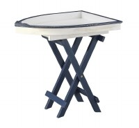"28"" Blue and White Boat Table"