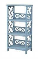 "24"" Light Blue Three Shelf Unit"