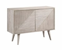 "43"" Gray Two Grooved Door Credenza"