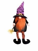 "18"" Halloween LED Orange Beard Witch Gnome"