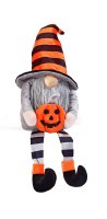 "16"" Halloween Gnome With Pumpkin"