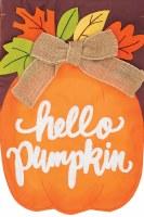 Mini Hello Pumpkin Flag