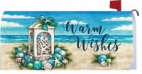 Coastal Christmas Mailbox Cover