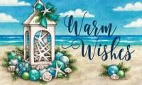 Warm Wishes Coastal Christmas Doormat