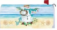 Coastal Snowman Mailbox Cover