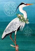 Mini Christmas Heron Flag