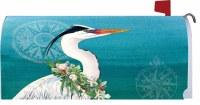 Christmas Heron Mailbox Cover