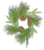 "3"" Mix Pine Candle Ring With Cones"