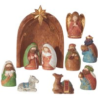 "Set of 10 6"" Multicolor Nativity"