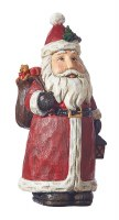 """9"""" Red Santa With Sack"""
