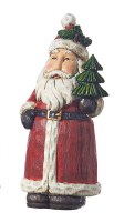 """9"""" Red Santa With Tree"""