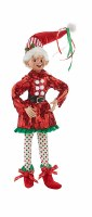 """16"""" Elf With Multicolor Dot Pants"""