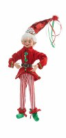 """16"""" Elf With Striped Pants"""