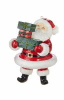 "5"" Santa With Three Gifts Ornament"