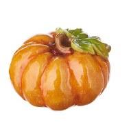 """4"""" Orange Pumpkin With Stem Down"""