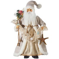 "18"" Beige Santa With Shells"