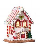 "7"" LED White Gingerbread House"