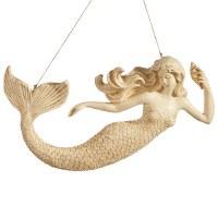 "14"" Beige Mermaid Plaque"