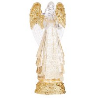 """13"""" LED Clear and Gold Angel Swirl"""