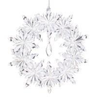 "5.5"" Clear Snowflake Wreath Ornament Acrylic"