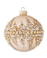 "3"" Gold Bead Ball Ornament Glass"