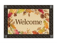 Swirl Leaves Welcome Doormat